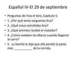 Español IV-El 29 de septiembre