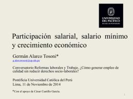 Participación salarial, salario mínimo y crecimiento económico