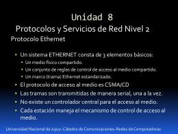 Presentación U8 - Redes de Computadoras