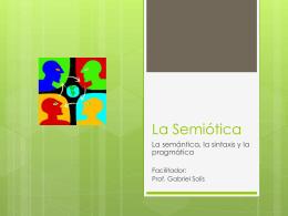 La Semiótica - Blog del Prof. Gabriel