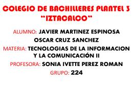 COLEGIO DE BACHILLERES PLANTEL 3 *IZTACALCO*