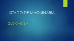 LISTADO DE MAQUINARIA