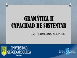 CAPACIDAD DE SUSTENTAR