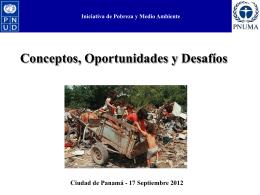 Iniciativa de Pobreza y Medio Ambiente Nexos entre Pobreza y