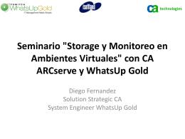 con CA ARCserve y WhatsUp Gold