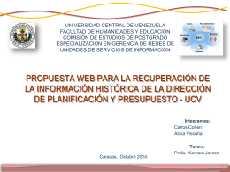 PRESENTACION COLOQUIO - Saber UCV