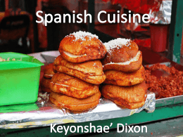Spanish Cuisine.