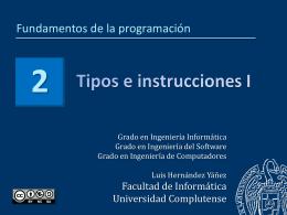 Tema 2 - Facultad de Informática
