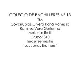 COLEGIO DE BACHILLERES N° 13 TM Covarrubias - TIC3-310