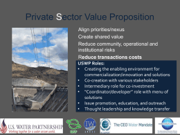 Private Sector Value Proposition