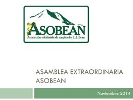 Asamblea Extraordinaria ASOBEAN Nov 2014