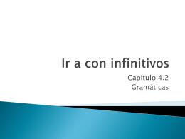 Ir a con infinitivos
