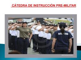 Bienvenidos (as) docentes de la cátedra de instrucción Pre
