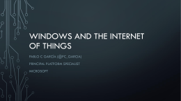 Windows and the Internet of things