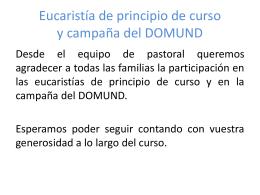 Eucaristía de principio de curso - Colegio Sagrada Familia Valencia
