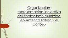 Organización-representación colectiva del