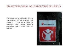 DÍA INTERNACIONAL DE LOS DERECHOS DEL NIÑO/A