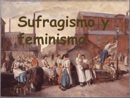 sufragismo y feminismo