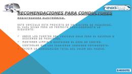 Recomendaciones para conductores Registradora electrónica.