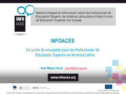 Presentacion INFOACES - Septiembre 2013