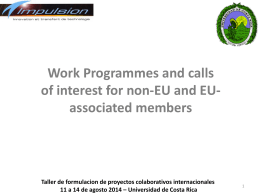 Work Programmes of interest