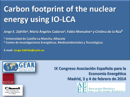 Carbon footprint of the nuclear energy using an IO-LCA