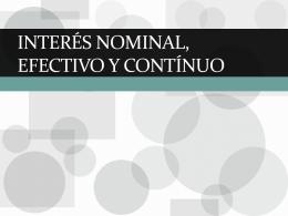 Interés nominal, efectivo y contínuo