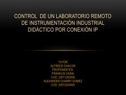Control de una planta de instrumentación didáctica a distancia por