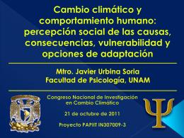 percepción social de las causas, consecuencias - pincc