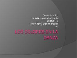 Los colores en la danza - TCOLOR-GC2011-2