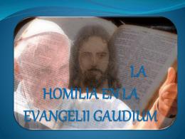 LA HOMILÍA EN LA EVANGELII GAUDIUM