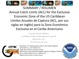 FMU Group - Caribbean Fisheries Management Council