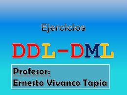 Material DML y Query - Ernesto Eduardo Vivanco Tapia