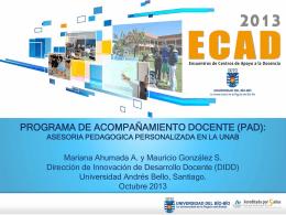 programa de acompañamiento docente (pad)