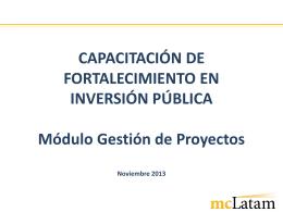 EGPP REIN - Gestión de Proyectos