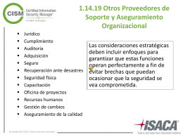 1.15.1 Requerimientos legales y regulatorios