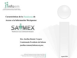 Características de la Plataforma de Acceso a la Información