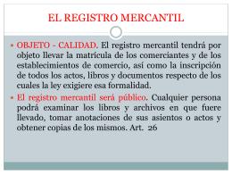 Legislación Comercial. Clase 2