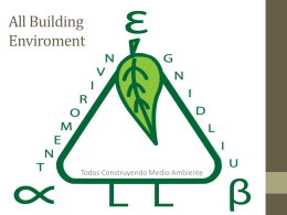 All Building Enviroment - Global Sustainability Jam