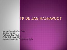 TP de Jag Hashavuot