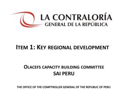 Presentación de PowerPoint - INTOSAI Capacity Building Committee