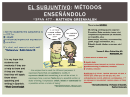 EL SUBJUNTIVO - Language Links 2006