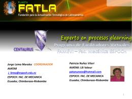 PROGRAMA DE FORMACION DE FACILITADORES VIRTUALES