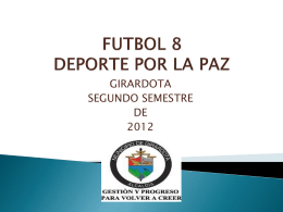 futbol 8 deporte por la paz