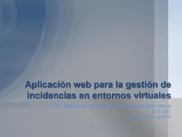Aplicación web para la gestión de incidencias en entornos virtuales