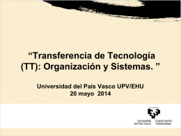 La Universidad del País Vasco UPV/EHU