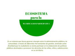 Plataforma Ecosistema para la Planificación Planificativa