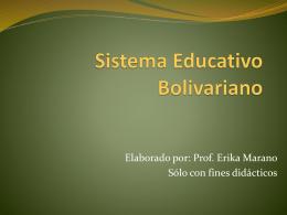 Currículo Nacional Bolivariavo - sistemaeducativovenezolanoiua