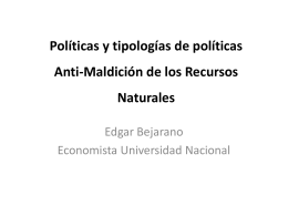 AVINA-TIPOLOGÍA DE LAS POLÍTICAS ANTIMALDICION DE LOS