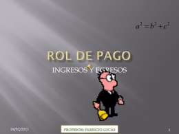 rol de pago POWER POINT